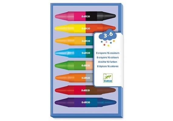 8 Wachsmalkreiden (16 Farben)