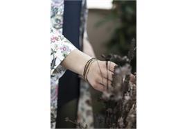 Armband Glas- und Metallperlen auf Gummiband 6 ass
