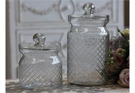 Aufbewahrungsglas mit Schliff Glas