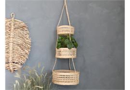 Aufhang aus Seegras mit 3 Körben