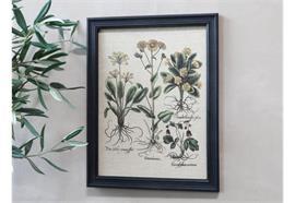Bild mit Blumen & schwarzer Rahmen