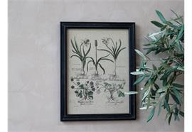 Bild mit Blumendruck und schwarzer Rahmen