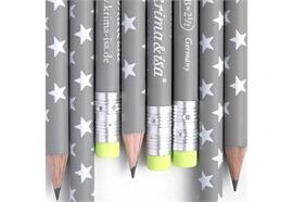 Bleistift Sterne Grau