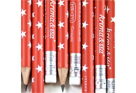Bleistift Sterne Rot