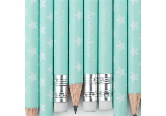 Bleistift Sterne Türkis