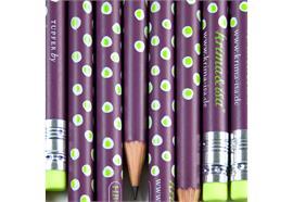 Bleistift Tupfer Lila