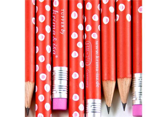 Bleistift Tupfer Rot