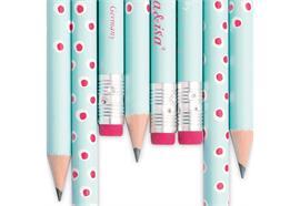 Bleistift Tupfer Türkis/Rosa