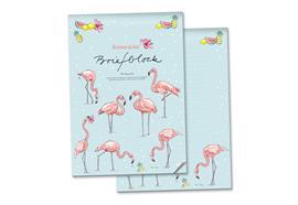 Briefblock Flamingo A4