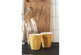 Cafe Latte Becher Mustard