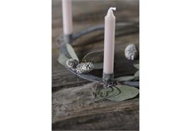 Dünne Kerzen 10 Stck malva