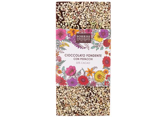Dunkle Schokolade 55% Kakao, Pistazien