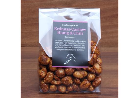 Erdnuss-Cashew Honig&Chili 130gr