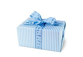 Geschenkpapier Gestreift Blau
