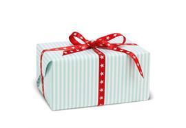 Geschenkpapier Gestreift Türkis