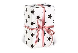 Geschenkpapier Sterne Schwarz