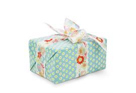 Geschenkpapier Tupfer Türkis