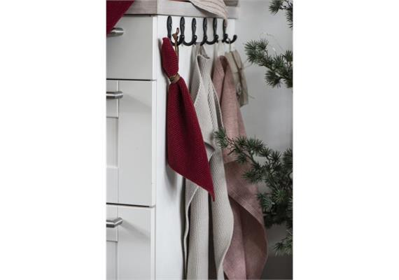 Handtuch Mynte beige gestrickt