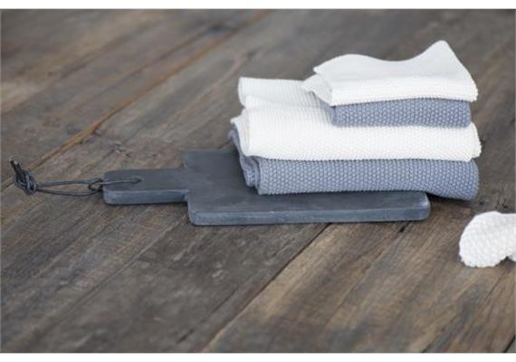 Handtuch Mynte dunkelgrau gestrickt