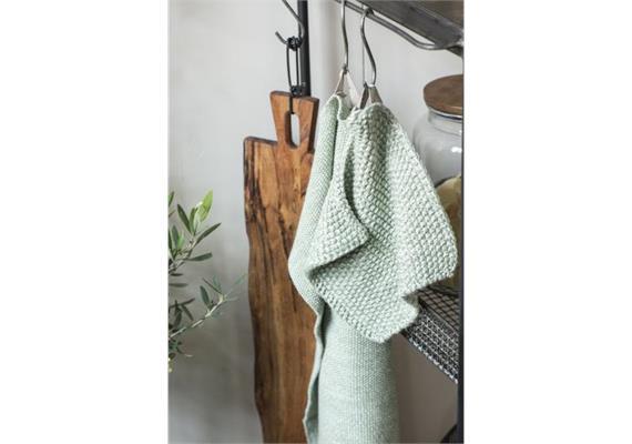 Handtuch Mynte hellgrün melange gestrickt