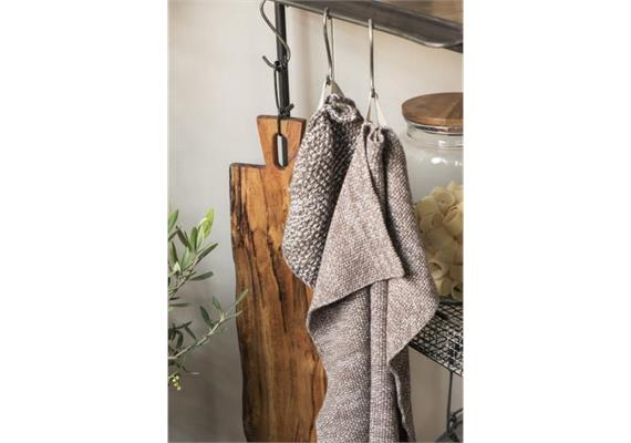 Handtuch Mynte milky brown melange