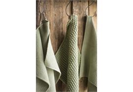 Handtuch Mynte Olive gestrickt