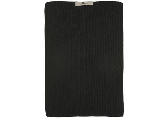 Handtuch Mynte Pure Black gestrickt