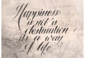Karte, Happiness DIN A6