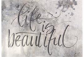 Karte, life is beautiful DIN A6