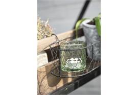 Kerzenhalter f/Teelicht grün Glas