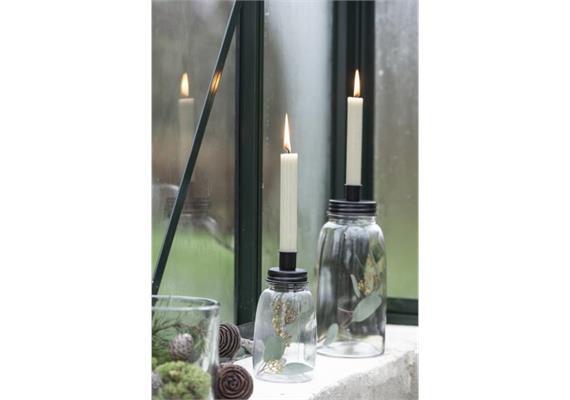 Kerzenhalter für dünne Kerze Metalldeckel