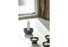 Kerzenhalter für Stabkerze gewellte Kante