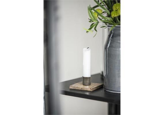 Kerzenhalter für Stabkerzen Holzfuss