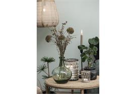 Kerzenhalter für Teelicht mit Bambusgeflecht