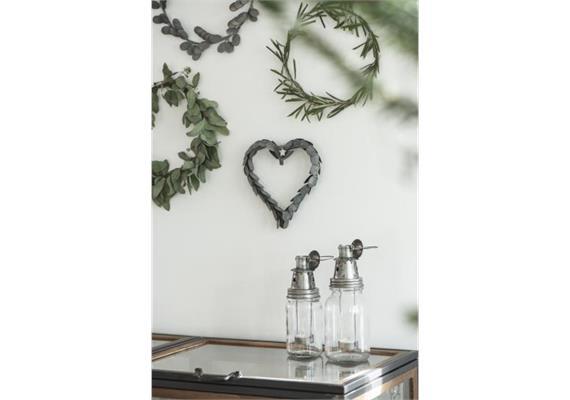 Kerzenhalter m/Teelichthänger Metall Sternenmuster