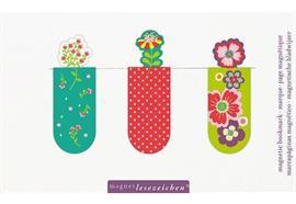 Magnetlesezeichen - Blumen