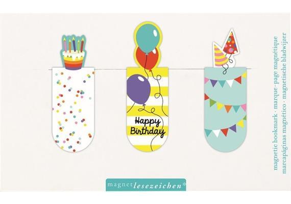 Magnetlesezeichen - Happy Birthday