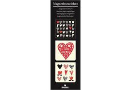 Magnetlesezeichen - Herzen