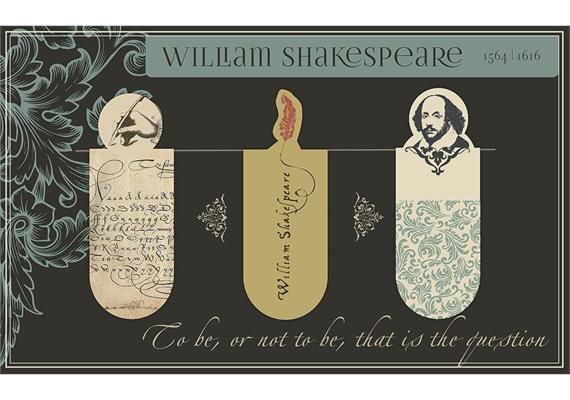 Magnetlesezeichen - Shakespeare