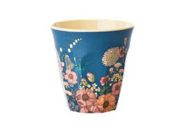 Medium Becher - Blumen Collagen Druck