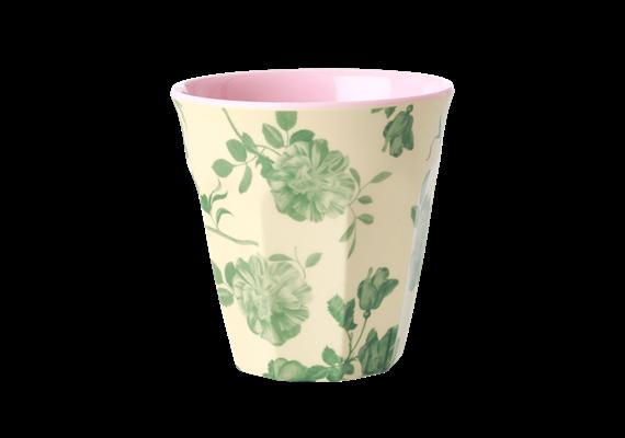 Medium Becher - Green Rose