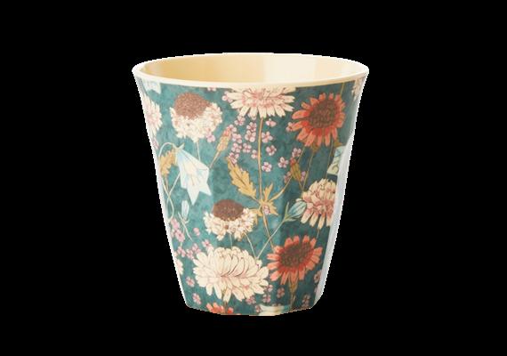 Medium Becher - Herbstblumendruck