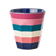 Medium Becher - Stripe Print