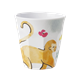 Medium Becher - with Monkey Print