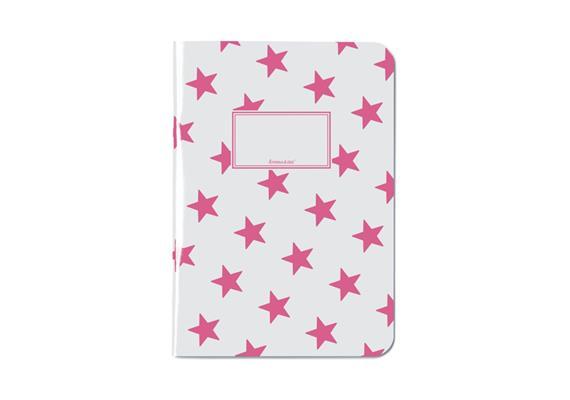 Notizheft Sterne Pink A5