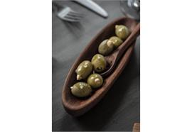 Olivenlöffel mit Loch geölt