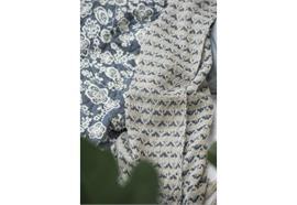 Plaid creme/blau Muster