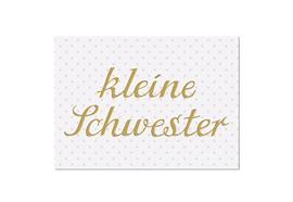 Postkarte Kleine Schwester