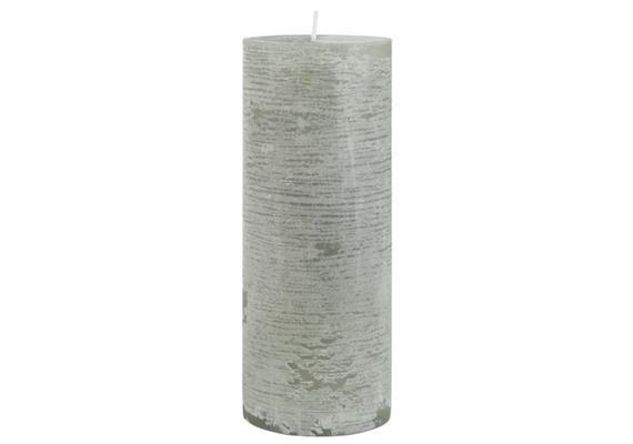 Rustikale Kerze grau Ø:7 H:18