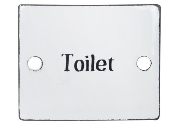 Schild Toilet